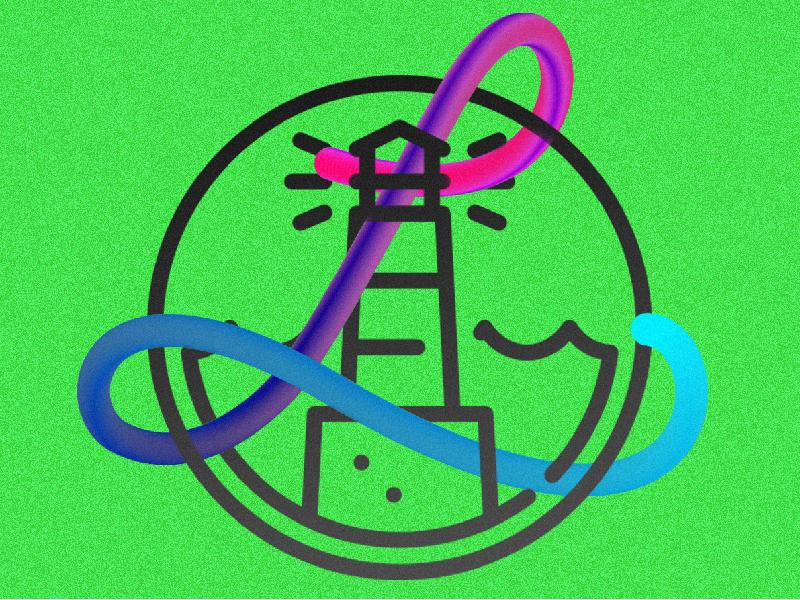 L like Lighthouse madagascar ainadedem graphiclogia design light green blend typography lighthouse l