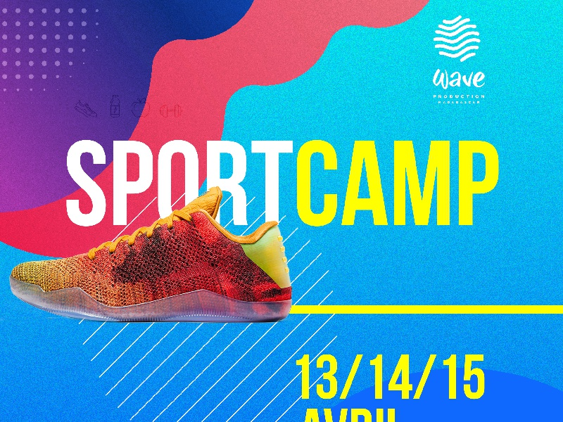 Sports Camp contrast noise grain texture stipes gradient shoe coloured madagascar