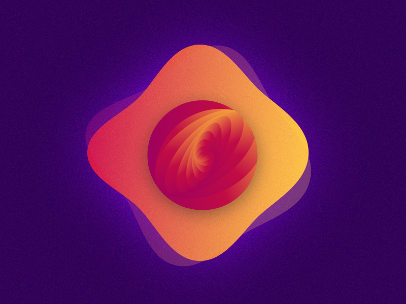 yolk. illustration gradients colours abstract