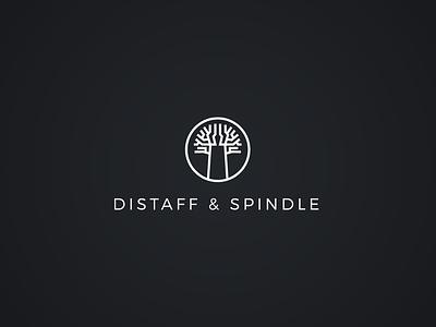 Distaff & Spindle / Logo Design baobab madagascar logo distaffspindle