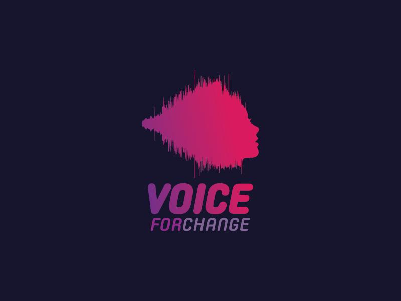 Voice For Change / Logo Design logia madagascar logo design voiceover studio sound