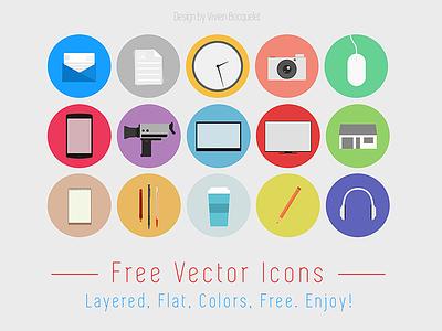 Flat Design free icon set icon set free design flat download freebie shadow colors