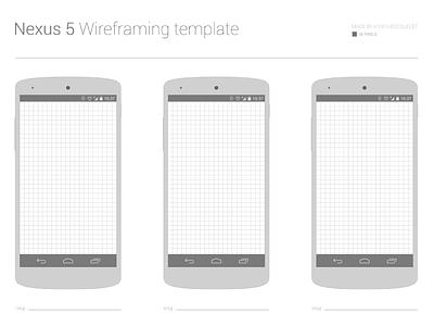 Free Nexus 5 Wireframing template nexus wireframe draw template free psd pdf freebie download mockup android