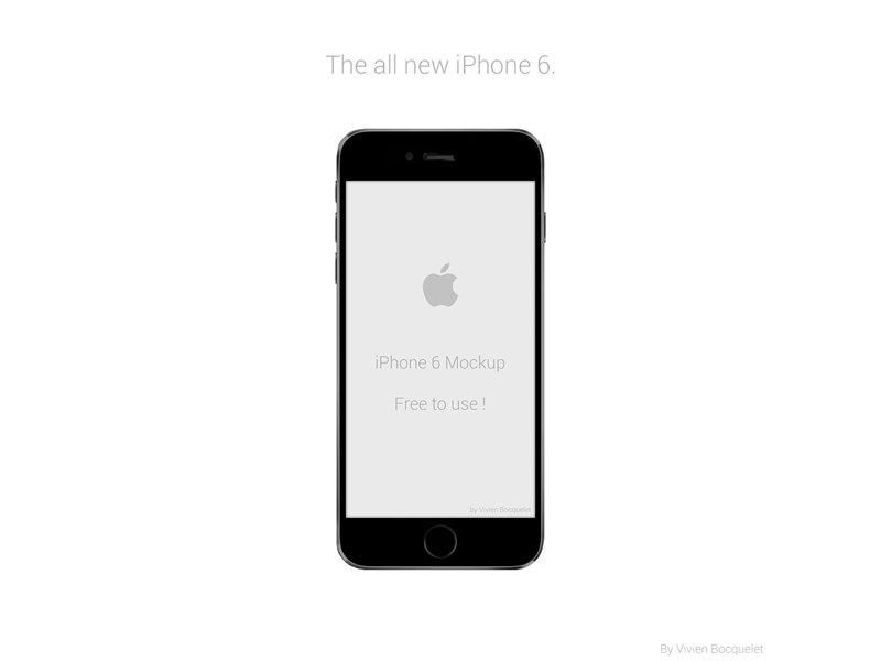 iPhone 6 Mockup iphone apple mockup free design freebie iphone6