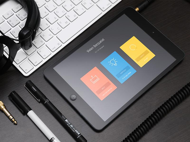 [WIP] New website upcoming ! mockup web brand personal wip apple headset pen design cards sketch
