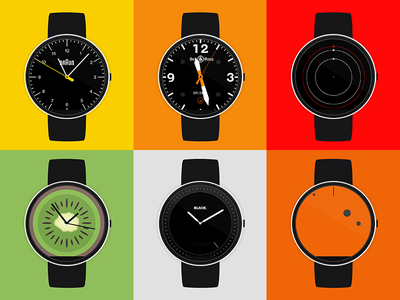 Launching my Android Wear watch faces microsite android wear design brand debuts moto360 website demo showroom codrops