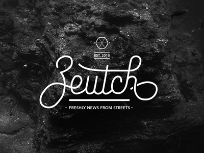 Zeutch : new identity typography typo brand magazine news design web blog logo