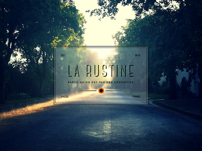 La Rustine brand identity magazine blog web design logo brand bike bicycle