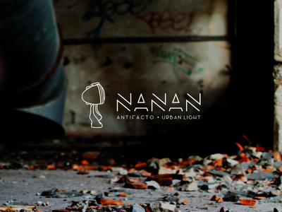 Nanan - new identity character france handmade artist nanan antifacto light urban web design logo