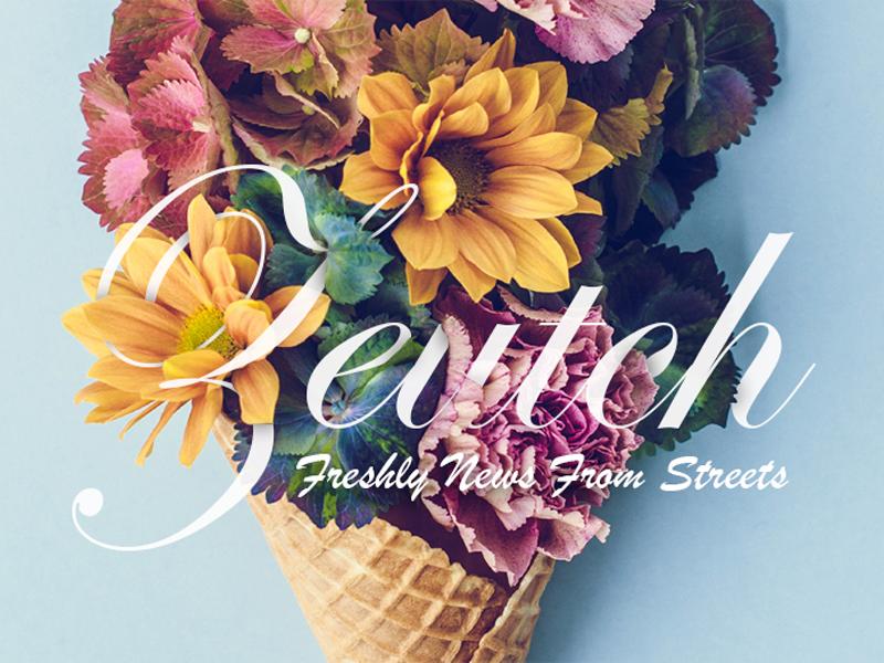 Image for Zeutch ice cornet vintage colors flower brand zeutch web image