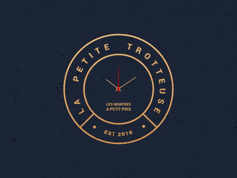 New logo, for new website minimalist blog blue gold wristwatch watch colors design brand logo