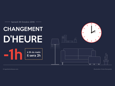 Changing time in France ! illustration geographic gmt vecto design time clock