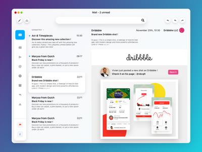 MacOS Mail App redesign mac apple macos email redesign