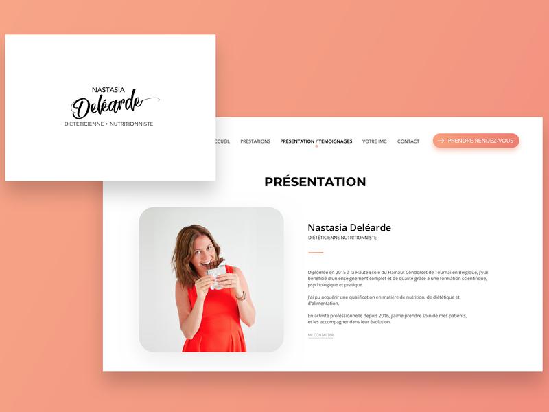 Nastasia Deléarde - New identity brand logo design food diet website identity medical