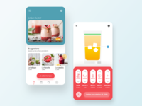 Juice-Maker app concept app modern design healthy smoothie fruit juice