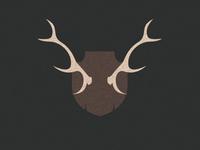 Reindeer wall horns