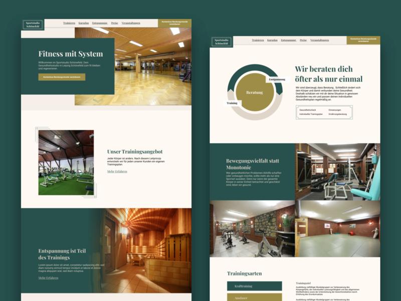 Redesign Sportstudio Schönefeld web ux website concept website