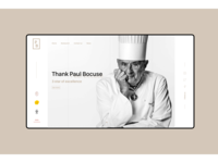 Paul Bocuse, 3 star of excellence