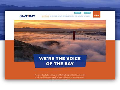 Save the Bay graphic design visual design ui web design