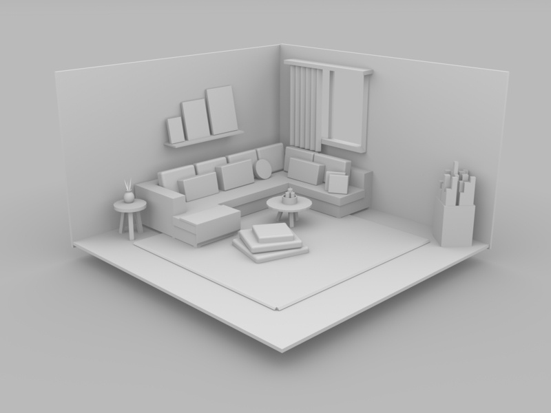 Modelado 3D visualization design diseño room 3d art modeling autodeskmaya 3d
