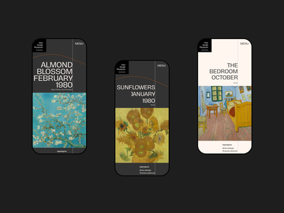 Van Gogh Museum Concept website mobile ui interaction creative ui design art minimal web ui
