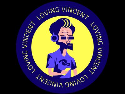 Van Googh Sticker van gogh typography creative art vector design interaction illustration colorful design