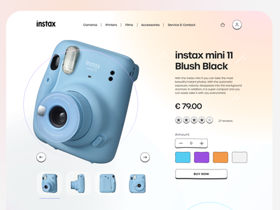 Instax web redesign figma design figma instax mobile ui ux design creative interaction colorful design ui