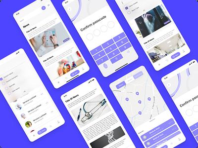 Medical App interaction creative mobile ui ui  ux design figmadesign ui design app design desktop uiux ui