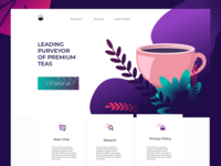 concept landing page for the republic of tea