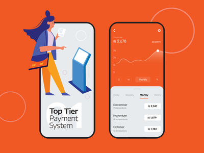 Payment System App illustration mobile ui mobile app design ui colorful design