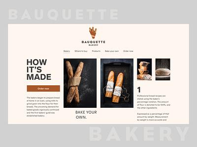 Baguette Bread Web web ui interaction minimalism product interface food baguette bread