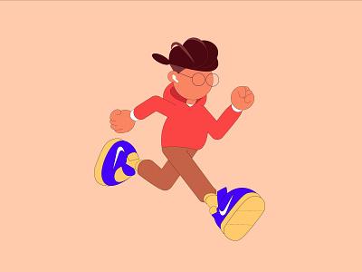 Forrest Gump 2019 forrest gump running man character characterdesign illustration art illustrations runner running interaction colorful design illustration
