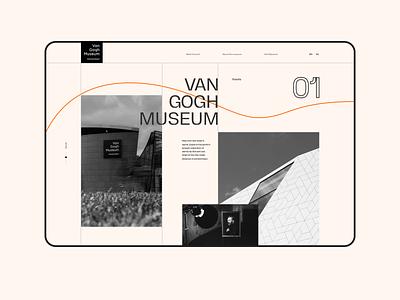Van Gogh Museum Concept Design art van gogh creative interaction clean minimalistic minimal concept web web design ui