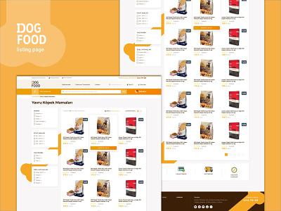 DOGFOOD online experience concept foods website web logo pet e-commerce dogs dog design orange bootstrap listingpage list ui ux