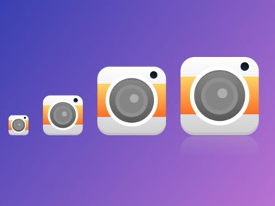 Cameras camera icon ios lens flash sketch photo simple source file clean illustration design