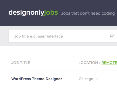 Purple header ui web design design green purple jobs board jobs white