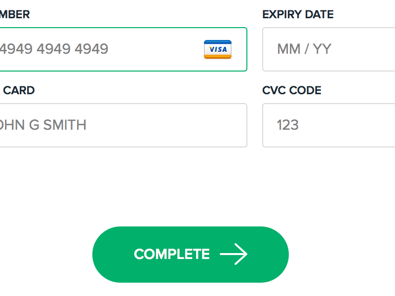 Checkout / Payment Form modal purchase checkout payment stripe