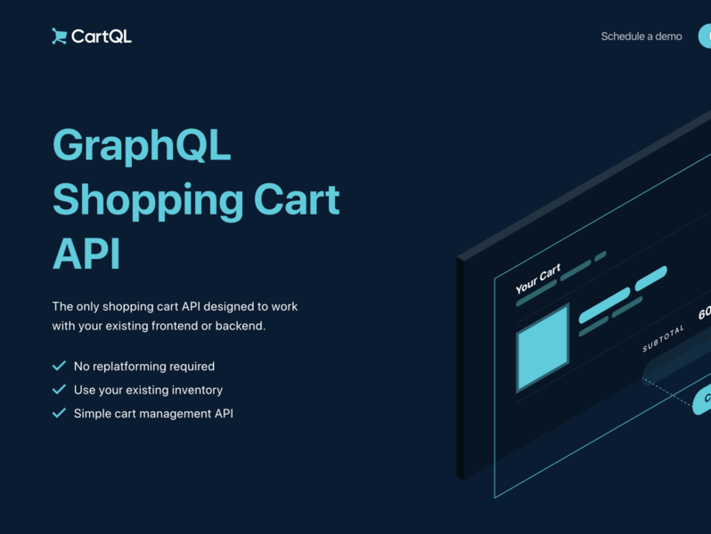 CartQL Landing Page cartql api shopping cart graphql