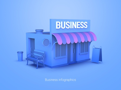 Business infographics advertising banner ad banner slide design ppt presentations isometry concept illustration icon infographics
