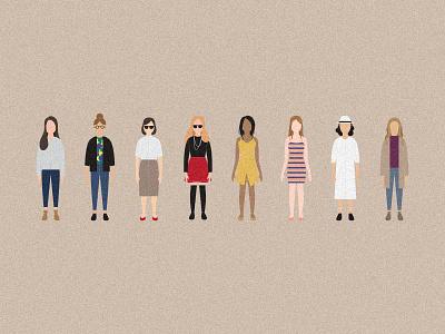 Woman Fashion character feminism icon illustration