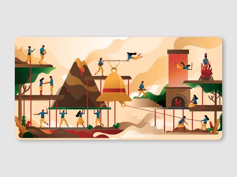 Life background illustration