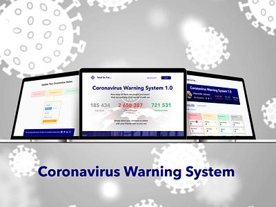 Coronavirus Warning System web illustration ux ui design