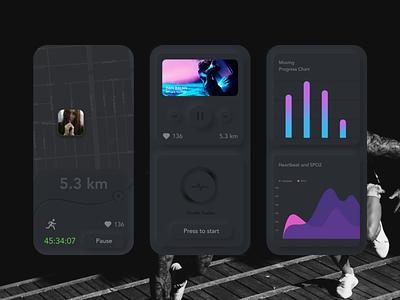 Music App illustration app ux ui design