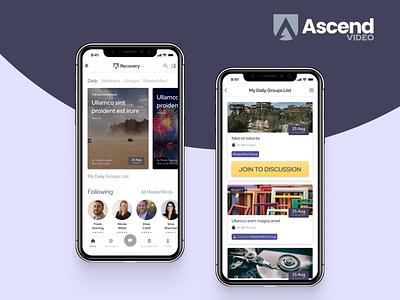 Ascend app ux ui design