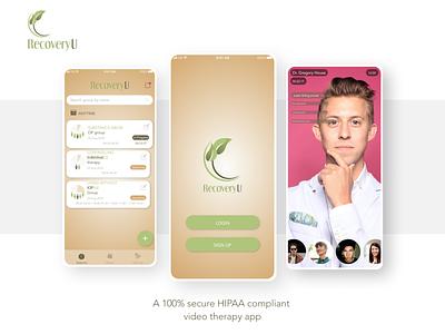 RecoveryU logo app ux ui design