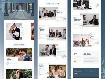 Winter Wedding Project brand identity brand design branding website landing page web design landing page design webdesign web design landing page concept ux ui