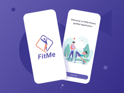 FitMe weight strong fitness app fitness sirana ui ux icons graphics app mobile gym app gym trainer body workout app workout