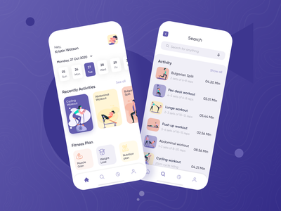 FitMe Home Page weight strong fitness app fitness sirana ux ui icons icon sets avater graphic app mobile gym gym logo gym app trainer body
