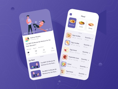 FitMe fitness app fitness sirana ui ux icons icon set avater graphics app mobile gym app gym logo body