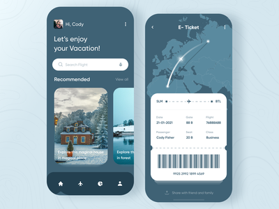 Flight Tracker App clean design sirana ui flight light tracker flights app mobile uiux tickets cards details design